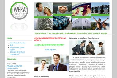 Kancelaria Brokerska, Wera Sp. z o.o. Ubezpieczenia firm, doradztwo ubezpieczeniowe - Ubezpieczenie firmy Jelenia Góra