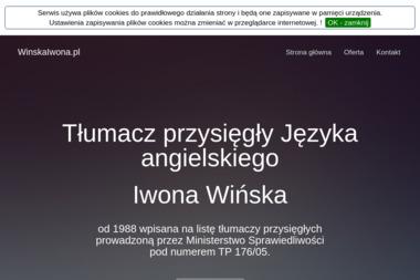 Tłumacz przysięgły Języka angielskiego Iwona Wińska - Tłumacze Biała Podlaska