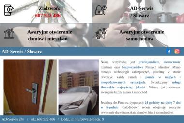 Ad Serwis - Awaryjne Otwieranie Drzwi - Ślusarz Łódź