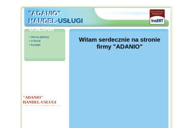 Adam Jakubczak Adanio Handel Usługi - Strony internetowe Mogielnica