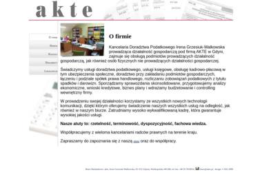 Kancelaria Doradztwa Podatkowego AKTE - Biznes plan Gdynia