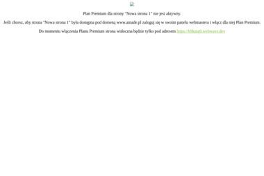 AMADE Przedsiębiorstwo Budowlane - Projekty domów Puszczykowo