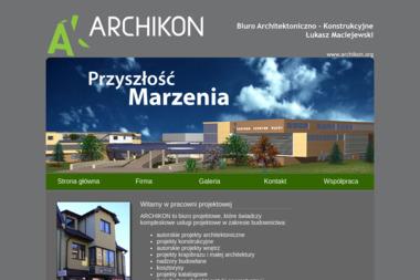 """Biuro Architektoniczno-Konstrukcyjne """"ARCHIKON"""" - Adaptacja projektów Chodzież"""
