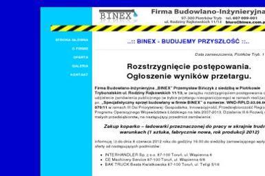 Firma Budowlano-Inżynieryjna Binex - Brukarstwo Piotrków Trybunalski