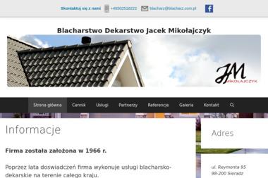 Blacharstwo Dekarstwo Jacek Mikołajczyk - Dekarstwo Sieradz