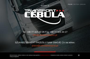 Cebula Transport Sp. z o.o. Sp. k - Transport międzynarodowy Opole