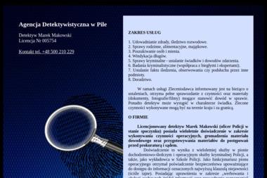 Detektyw Marek Makowski - Detektyw Piła