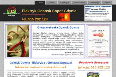 ELEKTROINSTALACJE-POMIARY Jarosław Huliński - Instalatorstwo Elektryczne Sopot