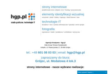 Agencja Kreatywna - hgp.pl - Pozycjonowanie stron Grójec