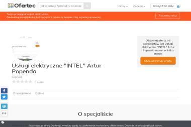 """Usługi elektryczne """"INTEL"""" Artur Popenda - Elektryk Legnica"""