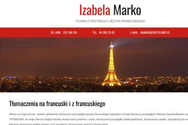 Izabela Marko Tłumacz przysięgły języka francuskiego - Tłumacze Świdwin
