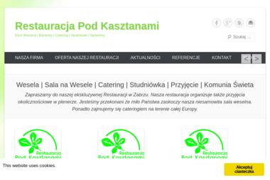 """Restauracja """"Pod Kasztanami"""" - Sklep Gastronomiczny Zabrze"""