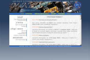 MADO komputery - Usługi Komputerowe Leszno