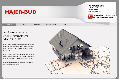 PW MAJER-BUD - Budowa Domu Murowanego Konin