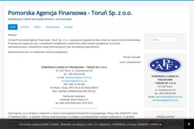 POMORSKA AGENCJA FINANSOWA - TORUŃ SP. Z O.O. - Skup długów Toruń