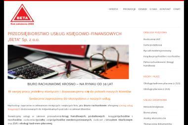 """PRZEDSIĘBIORSTWO USŁUG KSIĘGOWO – FINANSOWYCH """"BETA"""" Sp. z o.o. - Biznes Plan Kawiarni Krosno"""