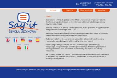 Say it - Szkoła Językowa - Szkoła językowa Kraśnik