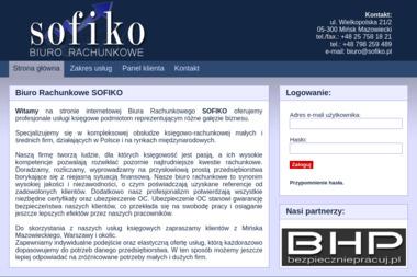 Biuro Rachunkowe SOFIKO - Sprawozdania Finansowe Mińsk Mazowiecki