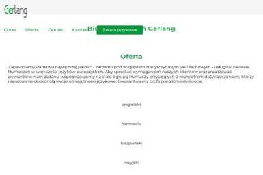 Biuro Tłumaczeń GERLANG - Tłumaczenia przysięgłe Gdańsk