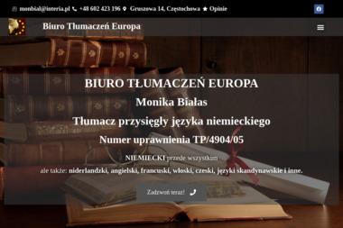 Biuro Tłumaczeń EUROPA - Tłumacze Częstochowa