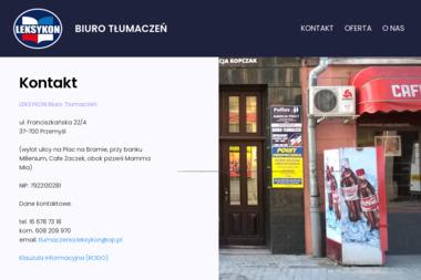 LEKSYKON Biuro Tłumaczeń - Tłumacze Przemyśl