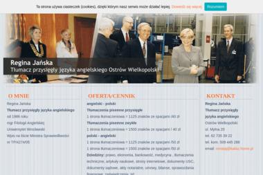 Regina Jańska  Tłumacz przysięgły  języka angielskiego - Tłumacze Ostrów Wielkopolski