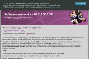 Lila Wawrzynkowska  Tłumacz przysięgły języka niemieckiego - Tłumacze Piotrków Trybunalski