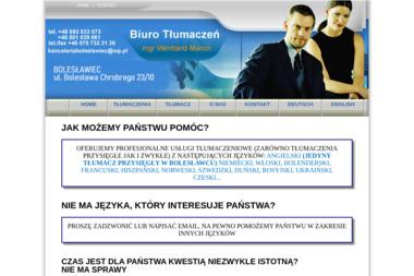 Biuro Tłumaczeń mgr Marcin Wentland - Tłumacze Bolesławiec