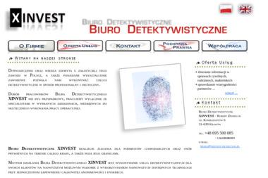 Biuro Detektywistyczne Xinvest. Detektyw - Detektyw Kraków