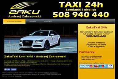 Taxi Andrzej Zakrzewski - ZakuTaxi - Transport Autokarowy Łomianki