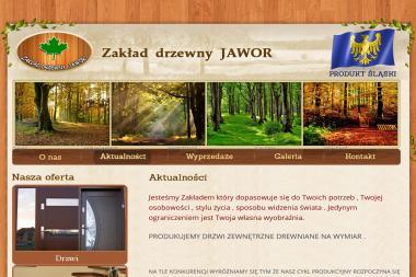 Zakład Drzewny Jawor Robert Jawura. Drzwi zewnętrzne drewniane, drzwi wejściowe - Okna drewniane Moczydło