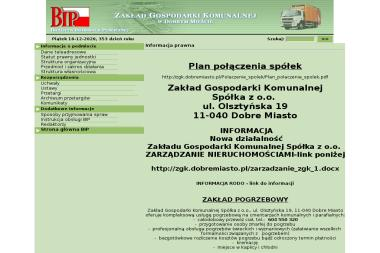 Zakład Gospodarki Komunalnej Sp. z o.o. - Wywóz Gruzu Dobre Miasto