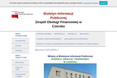 Zespół Obsługi Finansowej - Usługi finansowe Czersk