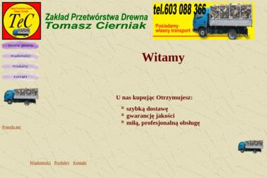Zakład Przetwórstwa Drewna Tomasz Cierniak - Drewno kominkowe Zbiersk-Cukrownia
