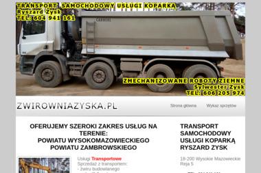 Transport Samochodowy Usługi Koparką - Transport Wysokie Mazowieckie