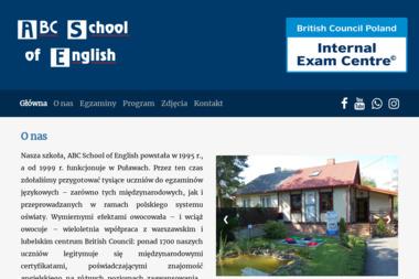 ABC School of English, - Lekcje Angielskiego Puławy