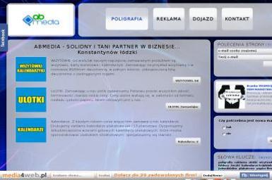 Ab Media. Ulotki, banery, wizytówki - Kalendarze Konstantynów Łódzki