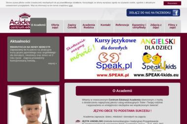 Centrum Edukacji Academia. Język angielski, język niemiecki - Szkoła Językowa Sława