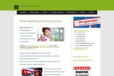 Academy Mobile Language Academy. Angielski, język angielski - Język Angielski Pruszków