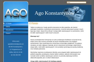 Ago PPHU Antoni Godziński - Agencja Reklamowa Konstantynów Łódzki
