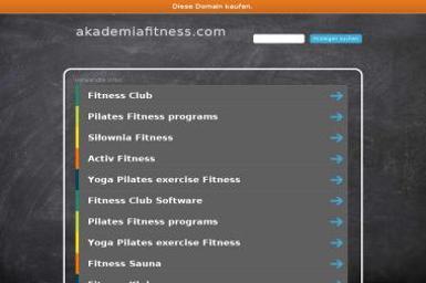 Akademia Fitness Sp. z o.o. - Trener personalny Szczecin