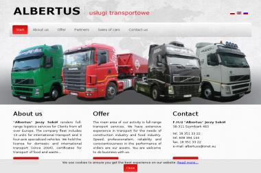 "F.H.U ""Albertus"" - Transport Drogowy Szymbark"