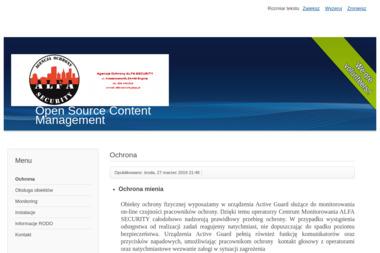Agencja Ochrony Alfa Security - Agencja ochrony Biłgoraj