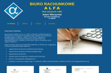 Alfa Biuro Rachunkowe Adam Wilczyński. Prowadzenia księgi przychodów i rozchodów, prowadzenia - Usługi finansowe Chmielnik