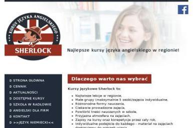 Sherlock Kursy Języka Angielskiego - Nauczyciele angielskiego Radłów