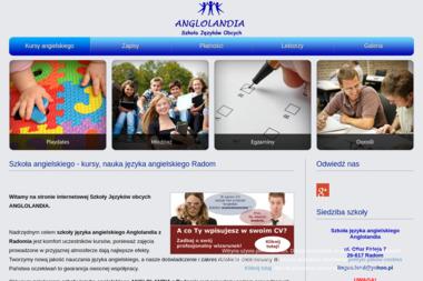 Szkoła języka angielskiego Anglolandia - Język Angielski Radom