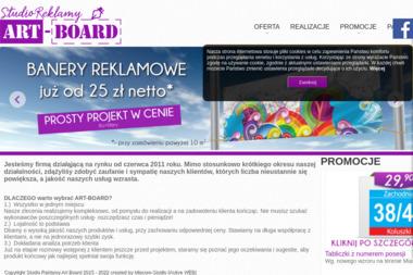 Studio Graficzne Art-Board. Banery reklamowe, ulotki - Druk wielkoformatowy Koluszki