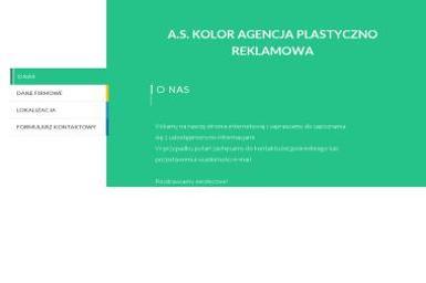 As Kolor. Agencja Plastyczno-Reklamowa - Wizytówki Olsztyn