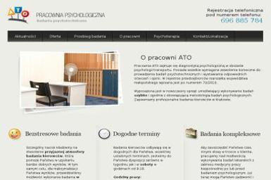 Pracownia Psychologiczna Ato. Badania psychotechniczne, badania kierowców - Szkoła Jazdy Kraków