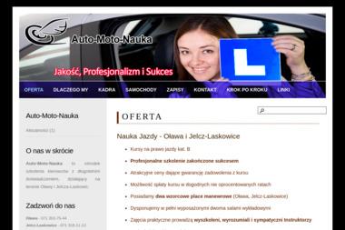 Ośrodek Szkolenia Kierowców Auto Moto Nauka. Iwona Musztyfaga - Kurs Prawa Jazdy Jelcz-Laskowice